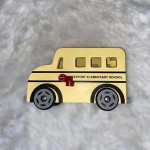 VGUC Pottery Barn Wooden Yellow School Bus Toy!